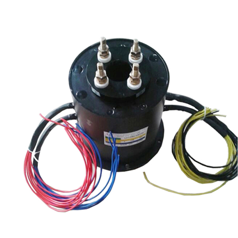 4 Ways Through Bore Slip Ring With 50mm Hole , Smooth Transmission , Stable Rota