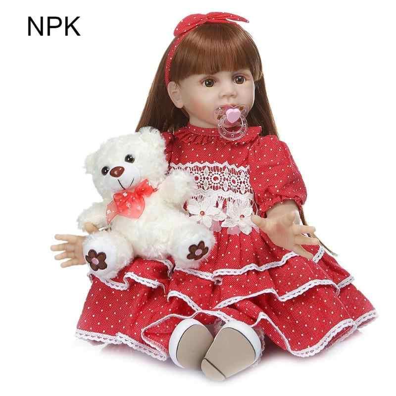 60 см милый виниловый Reborn Baby Lifelike куклы Друзья детей DIY игрушки куклы девушки подарок фотографии реквизит обучение в детском саду инструмент