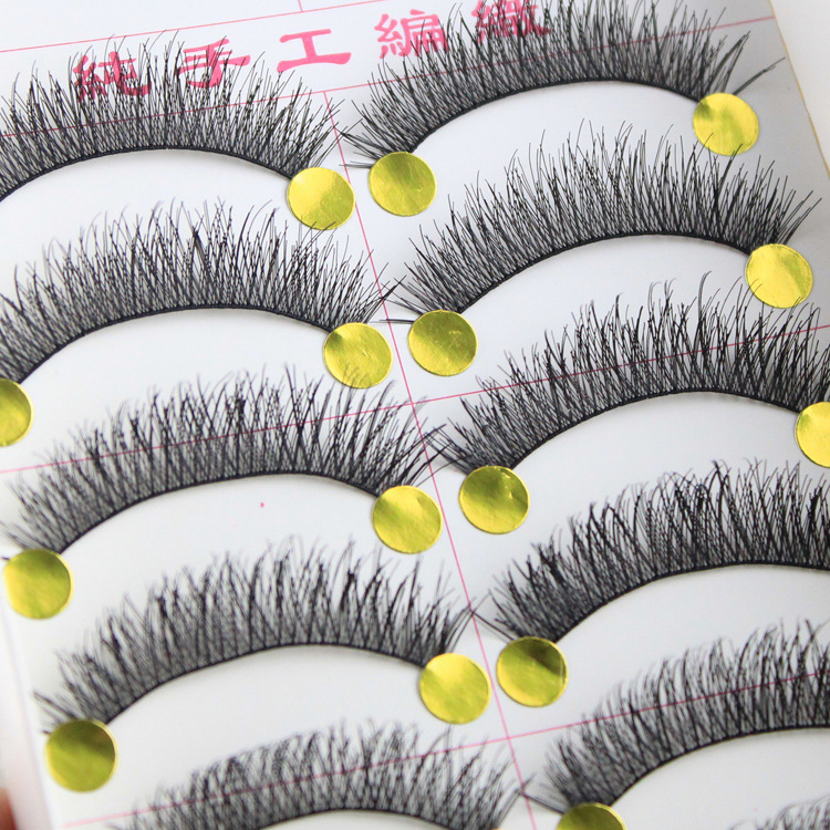 10 pairs/set For Women Lady Natural Sparse Cross Fake Eye Lashes Extension Long False Eyelashes Makeup Beauty Tools 31212