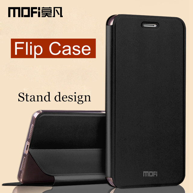 sale retailer cfcb7 7cae4 US $9.99 |oneplus 5t case cover one plus 5t cover leather silicone protect  shockproof fundas MOFi original flip case for oneplus 5t cases-in Flip ...