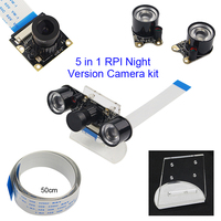 Raspberry Pi 3 Model B Night Vision Camera IR Sensor Lights Acryclic Holder 50cm FFC Cable