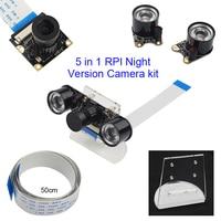 Raspberry Pi 3 Model B Night Vision Camera + IR Sensor Lights + Acryclic Holder + 50cm FFC Cable for Raspberry Pi 3 /2