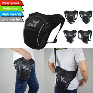 Image 2 - Fashion Motorcycle Drop Leg Bag Hip Bum Fanny Pack Waterproof Motorcycle Bag Outdoor Casual Waist Bag Motorcycle bike Bag Black