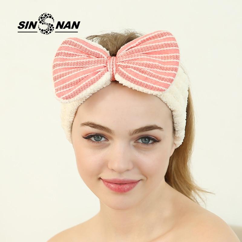 SINSNAN Ananas Lattice Coral Fleece Microfiber Hairband For Girls - Տնային տեքստիլ