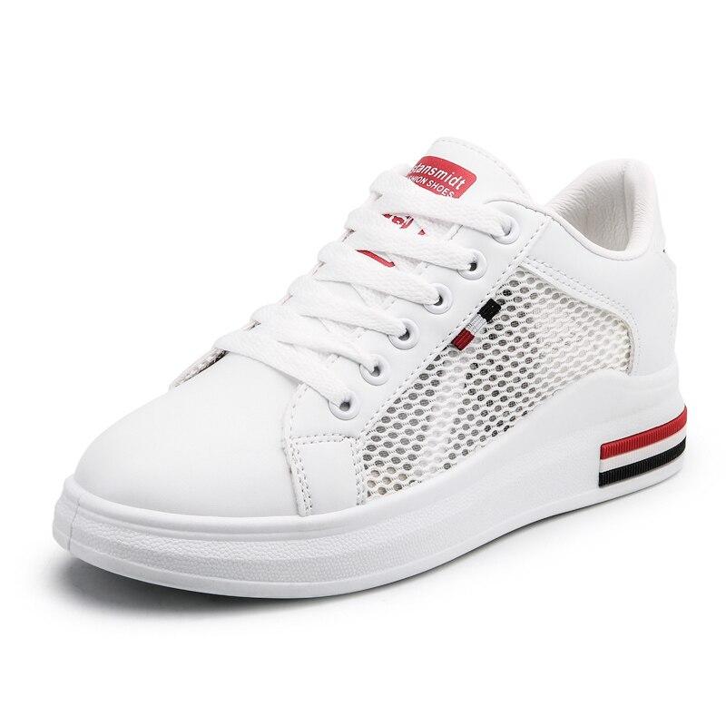 Chaussures de course légères de marque de Sport en plein air pour femmes chaussures de Sport à lacets respirant chaussures plates athlétiques confortables chaussures de Sport pour femmes - 3