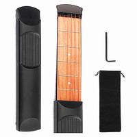 ZONAEL Hot S Portable Pocket Acoustic Guitar Practice Tool Guitar Parts Gadget Chord Trainer 6 String 6 Fret Finger Exerciser