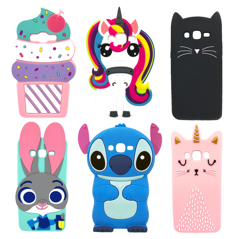 3D Cartoon Soft Silicone Phone <font><b>Case</b></font> For <font><b>Samsung</b></font> <font><b>Galaxy</b></font> J1 2015 <font><b>Core</b></font> <font><b>Prime</b></font> <font><b>G360</b></font> G3606 G3608 G3609 G361F G360H G360F G361H Cover image
