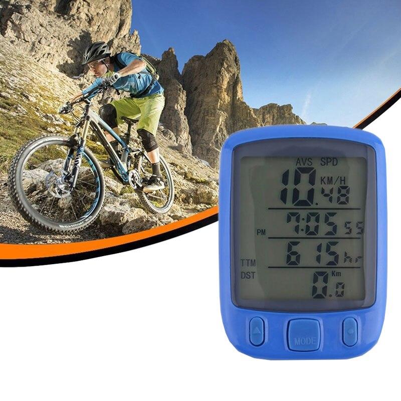 Sunding SD 563B Étanche Écran lcd de Bicyclette De Vélo D'odomètre D'ordinateur de vitesse avec Rétro-Éclairage Vert vente Chaude