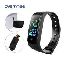 Купить с кэшбэком OYEITIMES CK17S USB Smart Band Business Fitness Tracker Call Reminder Sport Wristband Waterproof Smart Bracele Men Watch IOS