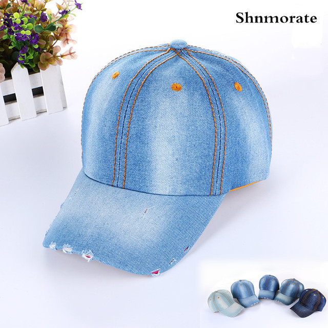 92de1e7a72058 Solid Cheap Wholesale Jeans Flower Brand Adjustable Baseball Cap Women  Snapback Casquette Hat Sport Gorras Hombre Outdoor Caps