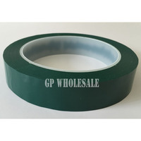 40mm 66M 0 06mm Thickness Single Face Glued Insulating Mylar Tape For Capacitors Fireproof Green