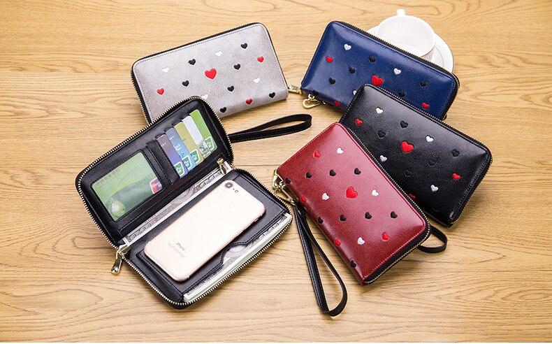Women genuine leather wallet 12
