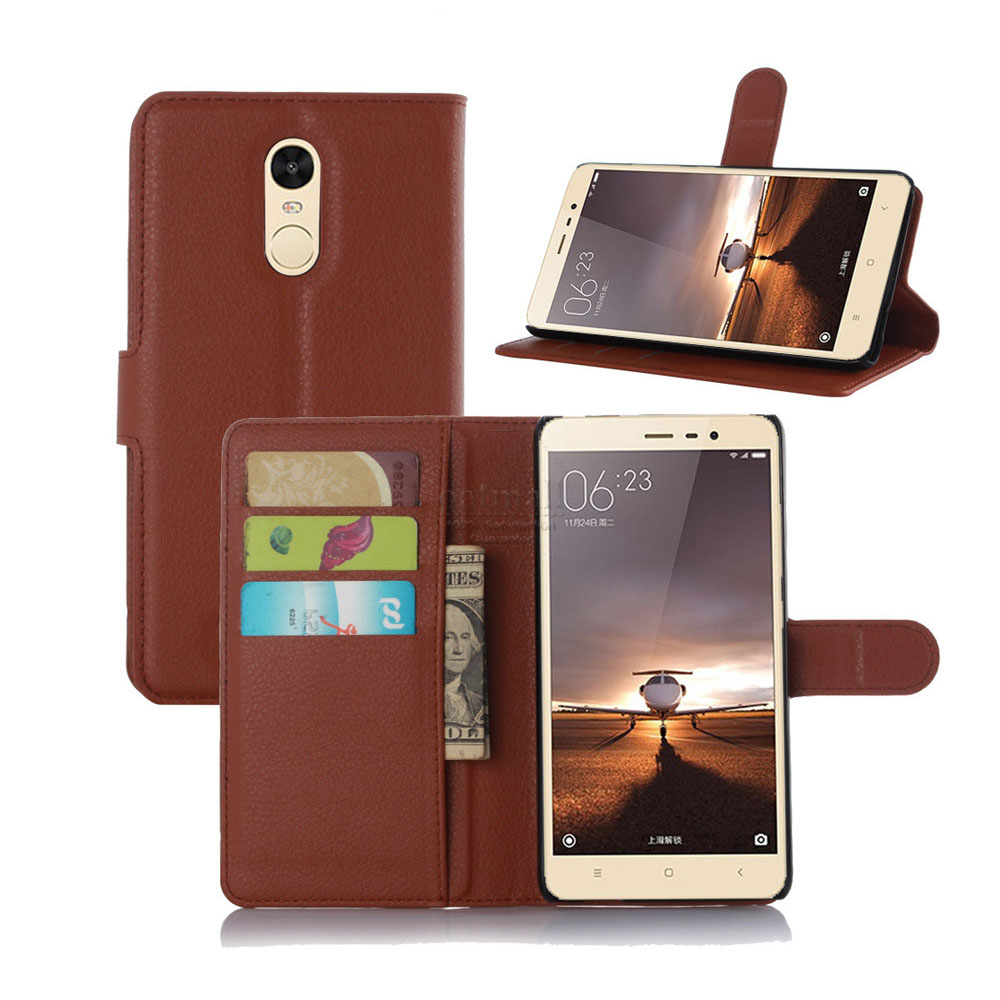 Luxury pu leather flip cover for xiaomi redmi note 4 pro wallet case with stand photo fundas mi - Xiaomi redmi note 4 case ...