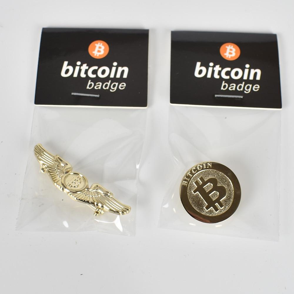 Gold Bitcoin Badge 4