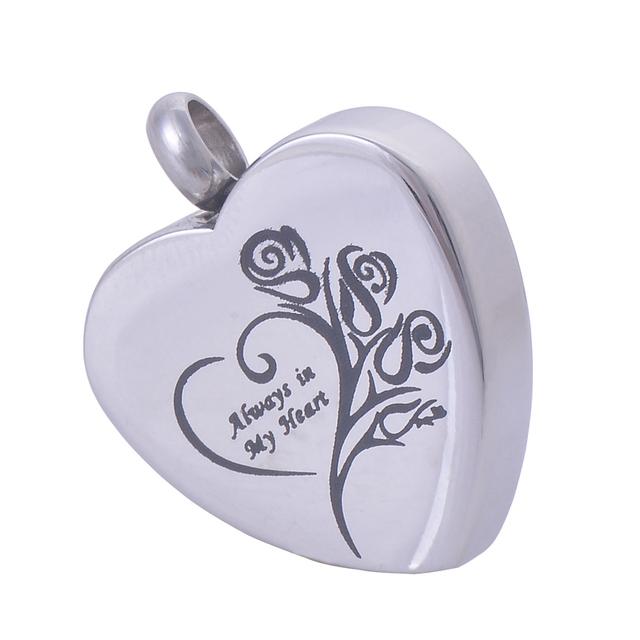 Heart Shaped Stainless Steel Memorial Urn