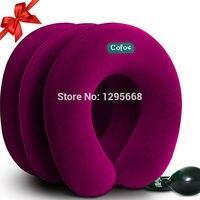Cofoe 3 katmanlar yumuşak bez şişme servikal yumuşak boyunluk boyun desteği brace relax aparatı dört renk mevcuttur
