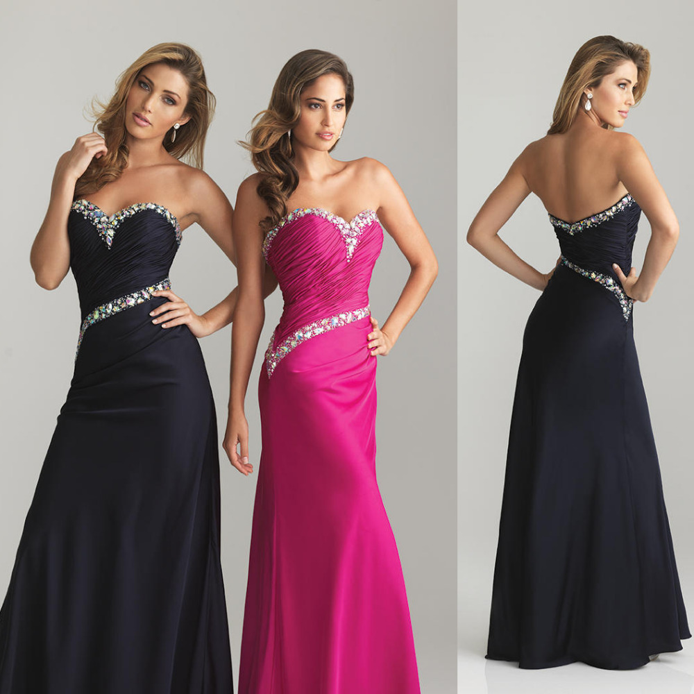 Online Buy Wholesale black and hot pink bridesmaid dresses from ...