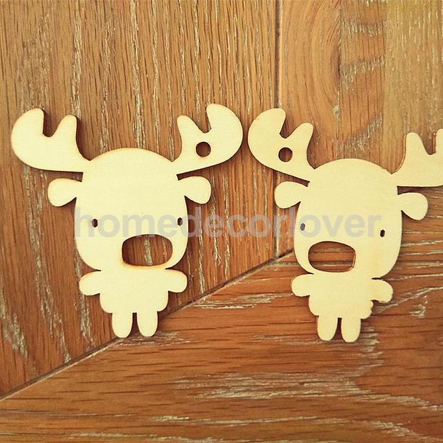Aliexpresscom Buy 10pcs Wooden Gift Tags Cutout Fawn