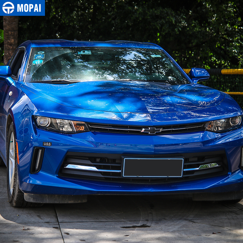 Image 4 - MOPAI Car Exterior Front Grille Cover Decoration Trim ABS Stickers for Chevrolet Camaro 2017 Up Car Accessories Styling-in Chromium Styling from Automobiles & Motorcycles
