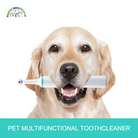 Electric pet dog tooth brush polisher cat dog oral cleaning plaque stain tartar tool pet whitening toothbrush