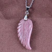 UMY New Stylish Silver Plated Vintage Angel Wings Pendant Fashion Red Serpenggiante Jewelry