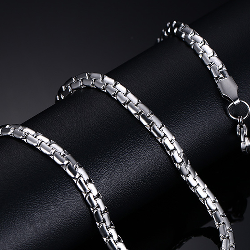 Classic Men's Silver Stainless Steel Link Chain