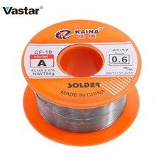 Vastar 0.6/0.8/1/1.2/1,5 MM 63/37 FLUX 1.2% / 2.0% 45FT Zinn Blei Zinn Draht Melt Rosin Core Solder Löten Draht rolle