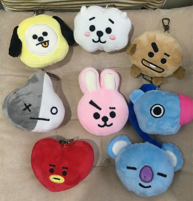 8pcs Bts Cute Soft Kpop Home Bangtan Boys Dolls 8-13cm Kawaii Bt21 Vapp Pendant Tata Van Cooky Chimmy Shooky Koya Keychain Clear And Distinctive Toys & Hobbies