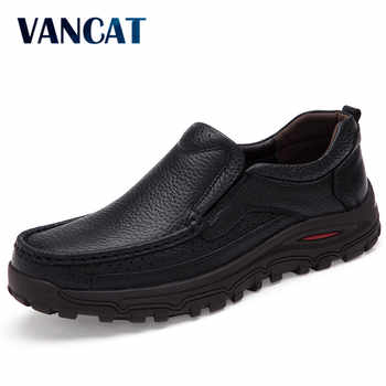 VANCAT big size 38-48 mens dress italian leather shoes luxury brand mens loafers genuine leather formal loafers moccasins men - DISCOUNT ITEM  48% OFF All Category