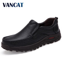 VANCAT Big Size 38 48 Mens Dress Italian Leather Shoes Luxury Brand Mens Loafers Genuine