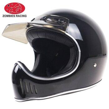 70'S stylish full face motorcycle helmet Vintage helmet Light weight cafe racer motorbike helmet