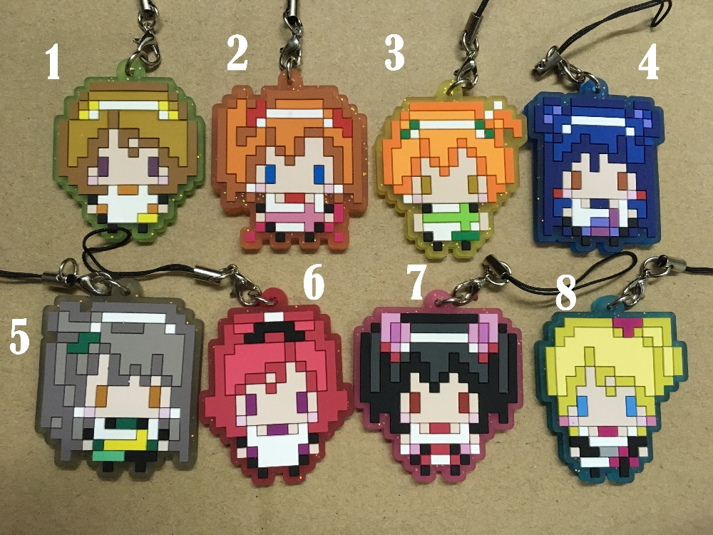 <font><b>H002</b></font> Love Live Anime keychain Rubber strap phone charms image