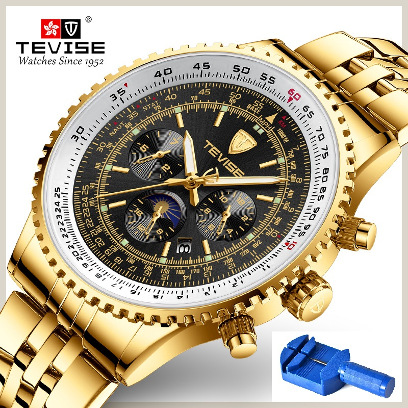 TEVISE Mechanical Watch T837a Men Fashion Top Brand 30M Waterproof Luxury Stainless Steel Watch Men Automatic Watch DropshippingTEVISE Mechanical Watch T837a Men Fashion Top Brand 30M Waterproof Luxury Stainless Steel Watch Men Automatic Watch Dropshipping