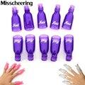 Hot 10 unids/pack Profesional Reutilizable Nail Art UV Gel Polish Remover Soak Off Cap Clip Wrap Accesorios DIY Manicura Cuidado herramientas