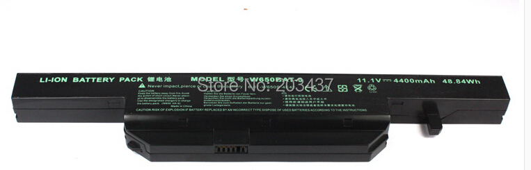 100 Brand new replacement for CLEVO W650BAT 6 6 87 W650S 4D4A1 K590C I3 K610C I5