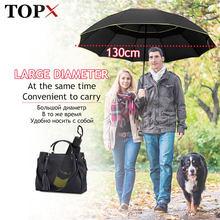 Paraguas plegable no automático para hombre y mujer, Paraguas doble resistente al viento de 130cm, grande, para viajes en familia y negocios