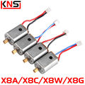 4PCS Motor A and B SYMA X8C X8A X8W X8G 6-AXIS 4CH 2.4G Drones UFO Rc Quadcopter x8c motor Spare Parts Replacements Accessories