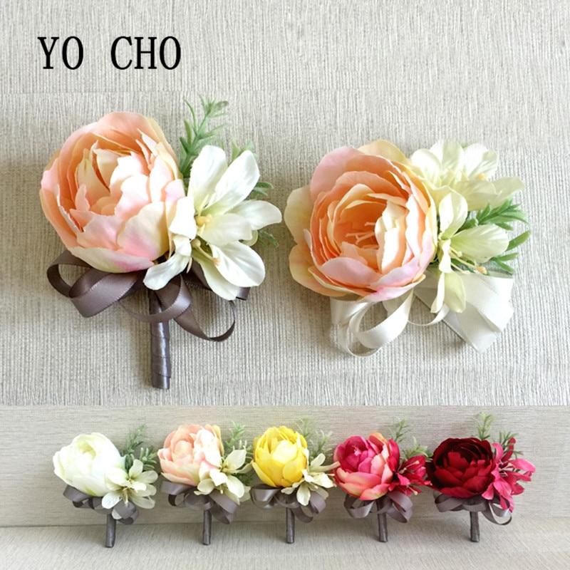 Cork Boutonniere: YO CHO Fashion Wedding Grooms Buttonhole Lapel Pin Flower