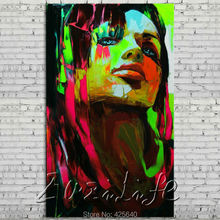 Palette knife portrait Face Oil painting Character figure canvas Hand painted Francoise Nielly wall Art picture 15