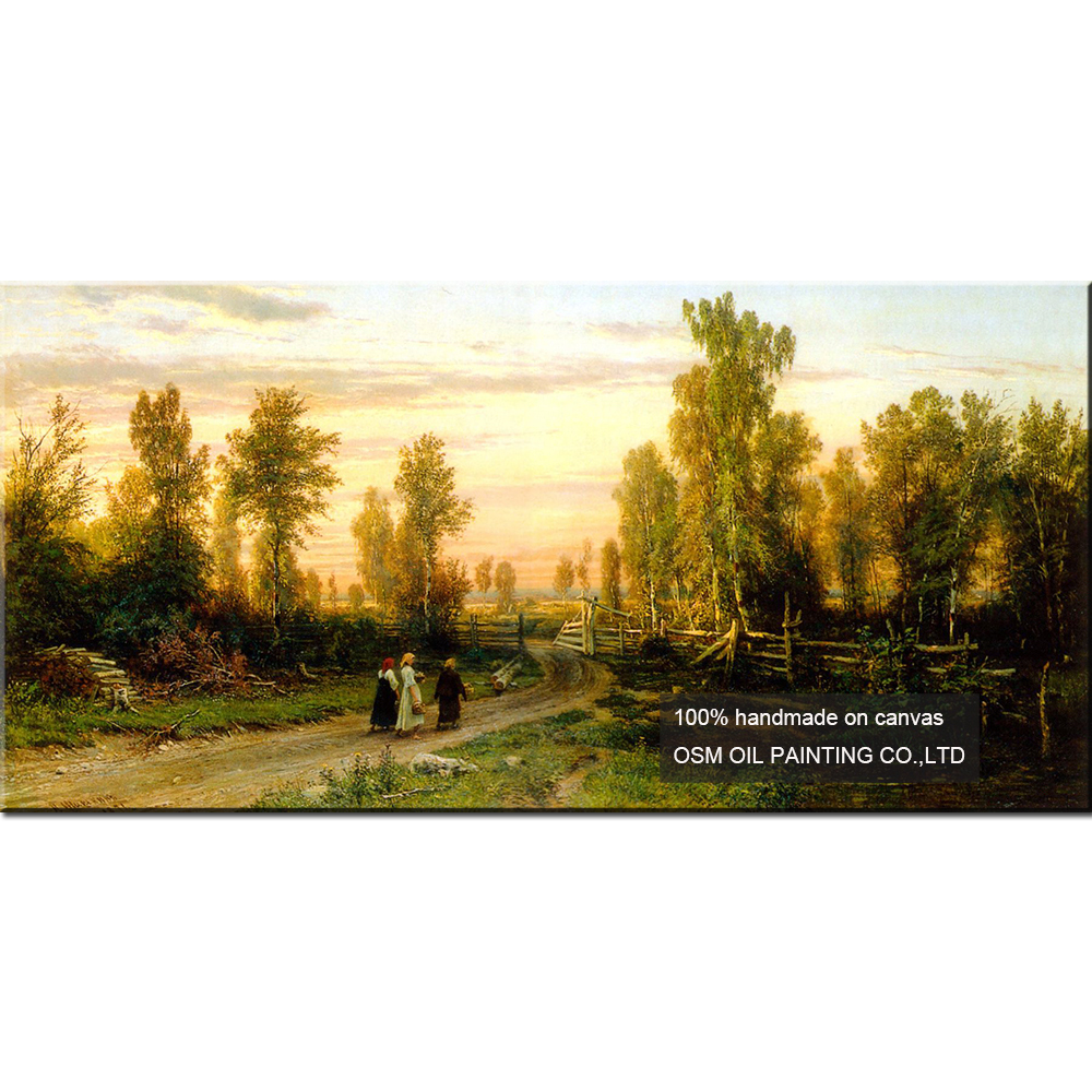 New Hand Painted Russian Landscape Oil Painting Wall Decor Art ...