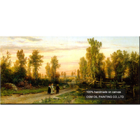 Handmade High Quality Russian Landscape Oil Painting Wall Decoration Imitation Paintings Ivan I. Shishkin Art Works Painting