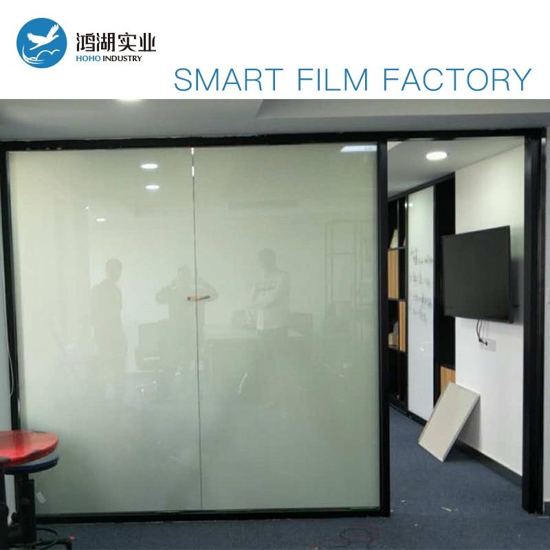 Blanc Couleur Smart Pdlc film pour Fenêtre en verre décoration Commutable smart film Magique fenêtre de la vie privée film Date