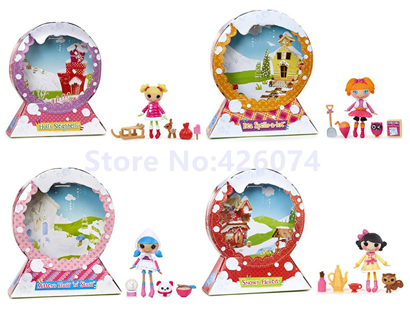 New Mini Lalaloopsy Snow Figure Dolls For Girls Kids Toys Decoration Children Christmas Gifts