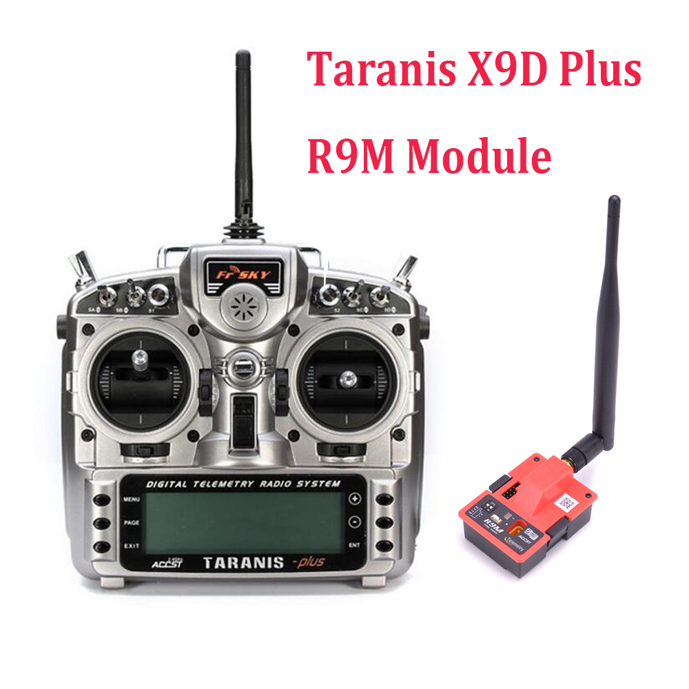 FrSky Taranis X9D Plus 2.4G ACCST Transmitter without X8R receiver Mode 2 / R9M transmitter module For FPV RC Drone Quadcopter