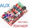 TDA7492P 50 Вт * 2 Беспроводная Связь Bluetooth 4.0 Аудио Приемник Цифровой Совет Усилитель AUX