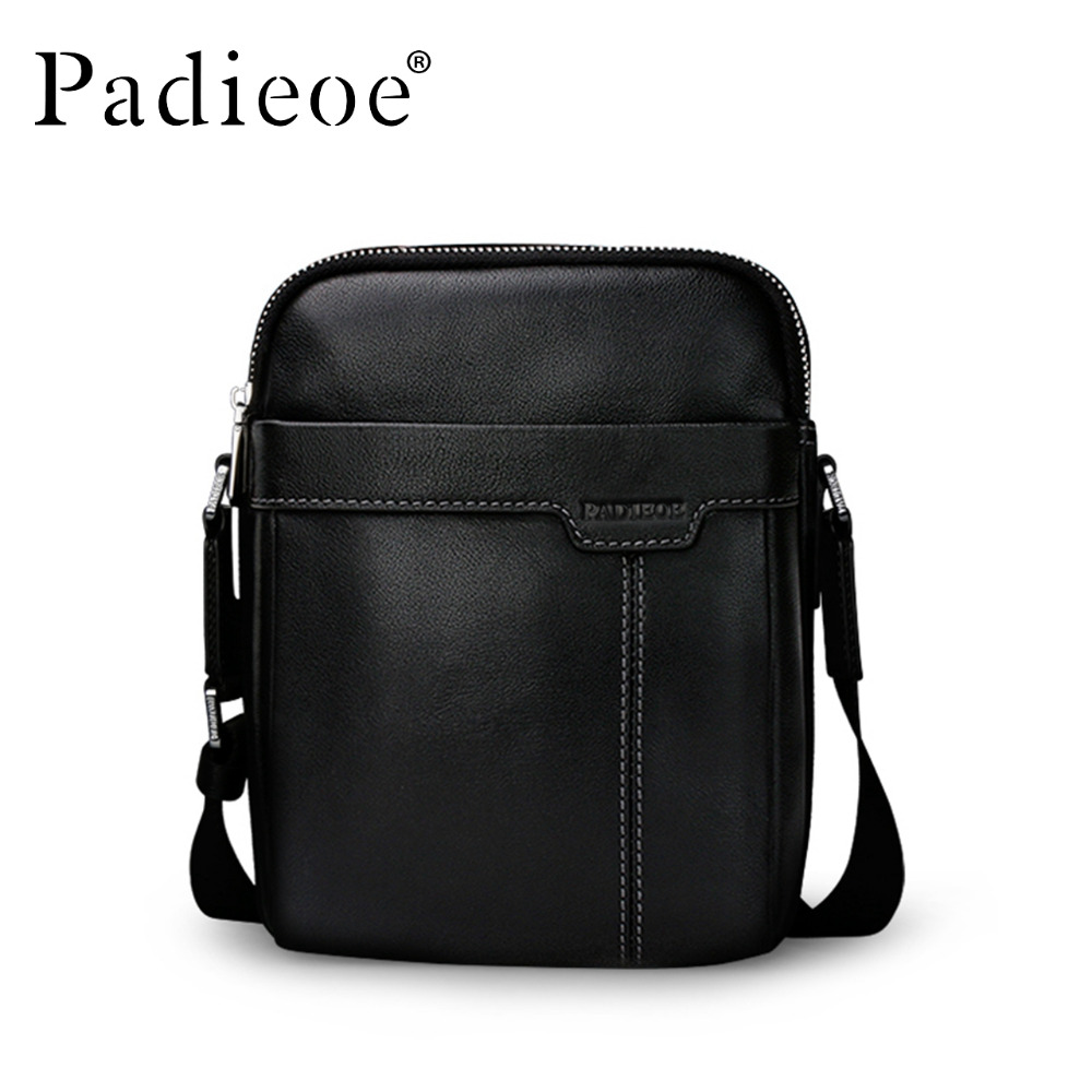 2017 Genuine Cow Leather Mens Bag for Male New Fashion Shoulder Messenger Bags Famous Brand Crossbody Bags