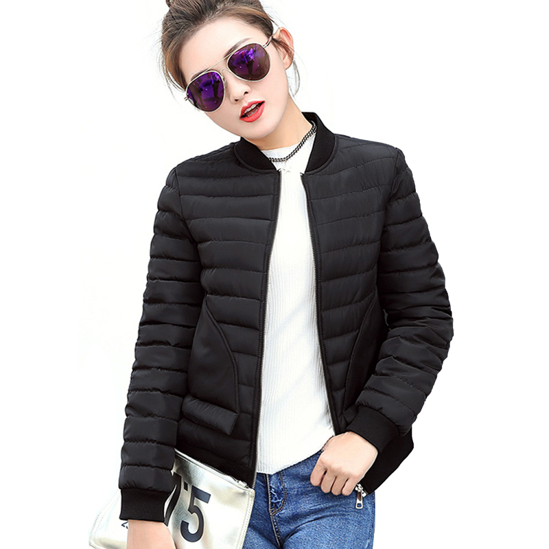 New Fashion 2017 Winter Jacket Women Coats Parka Slim Jackets cotton-padded Design Female Windbreaker Coat Parkas Plus Size 3L55