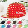 Bboy hip-hop punk rock hats male street dancing snapback hats adult spike studs rivet baseball caps