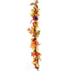 Image 5 - Nuovo Partito di Halloween Della Decorazione Della Stringa di Luce 1 pz 1.8 m LED Illuminato di Caduta di Autunno Zucca Maple Leaves Garland Festival Del Partito decor 30