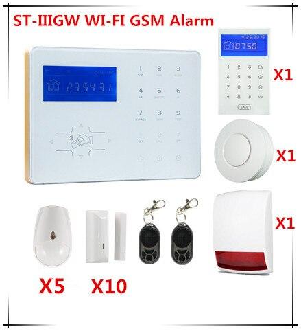 Focus Wifi Alarm System GSM Security Buglar Alarm System with webIE and App Control Alarm system ga09 b mini gsm alarm and alarm system with 3g and gsm app control alarm of 8 channel